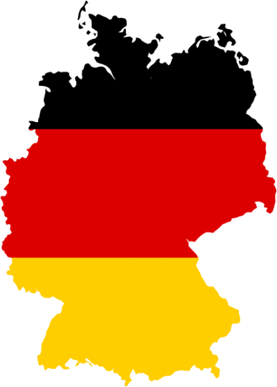 Germany Flag Map PNG Images