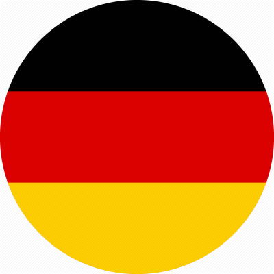 Round Germany Country Flags
