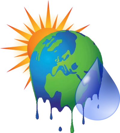 Sun, World, Waterdrop, Climate Change Png