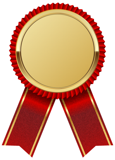 Gold Medal With Red Ribbon Png Clipart Image PNG Images