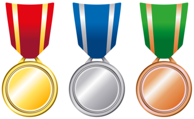 Transparent Gold Silver Bronze Medals Png Pic PNG Images