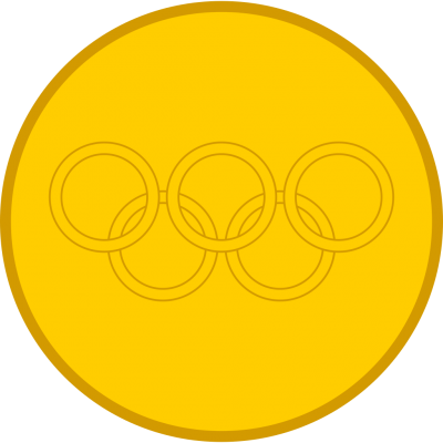 Yellow Gold Medal Png