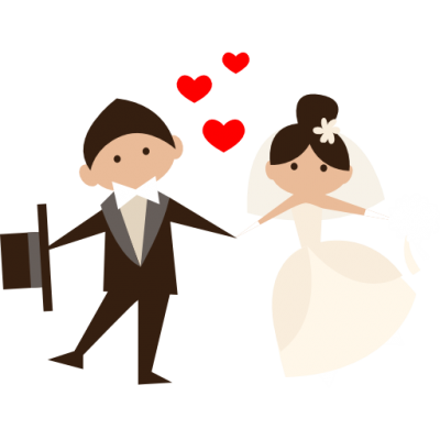 Groom, Bride, People, Wedding Couple, Heart, Romantic Icon Png PNG Images