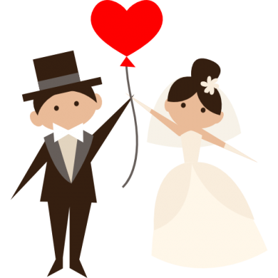 Red Heart, Bride, Wedding Couple, Romantic, People, Groom Icon Png