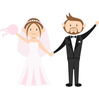 Romantic, People, Wedding Couple, Bride Icon Png Pic