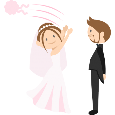 Romantic, Wedding Couple, Groom, Bride, People Icon Png Pictures