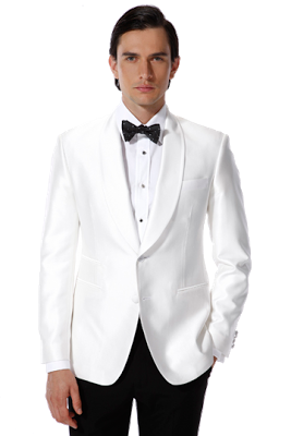 White Suit Groom Png Image