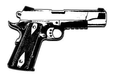 Monochrome Drawing Pistol Gun Hd Free PNG Images