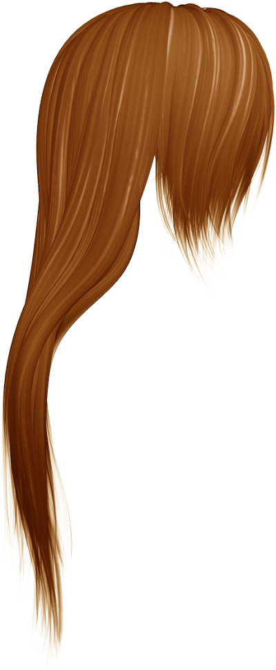 Caramel Color Long Drawn Hair Clipart, Drawing