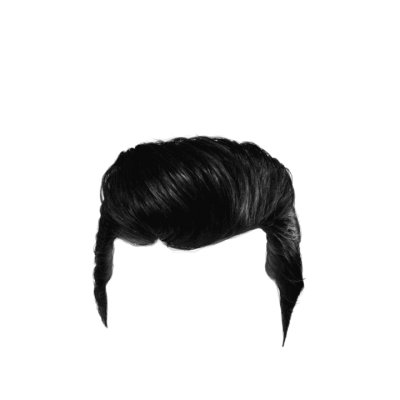 Combed Black Male Hair HD Image PNG Images