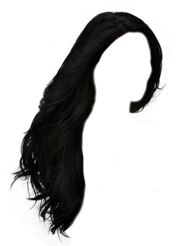 Black, Hair, Flat, Long Pictures PNG Images