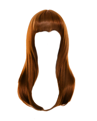 Red, Straight Hair, Long, Hair Png
