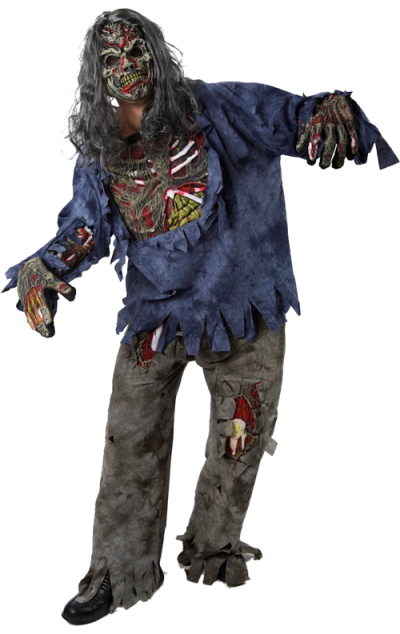 Complete Zombie Halloween Costume Png