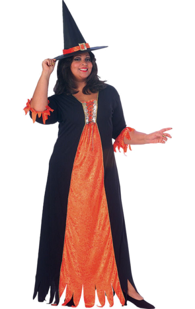 Gothic Witch Halloween Costume Png