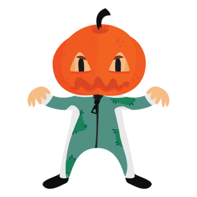 Halloween Cartoon Costume Pumpkin Transparent Png