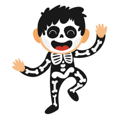 Skeleton Kid Halloween Costume Transparent Png