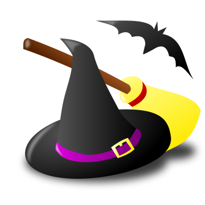 Bat, Pumpkin, Witch, Broom, Hat, Halloween Icon Png PNG Images