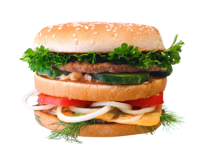 With Vegetables Hamburger image Png PNG Images