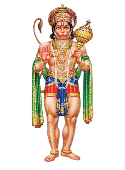 Hindu God Abhaya Anjaneya Swamy Hd Png
