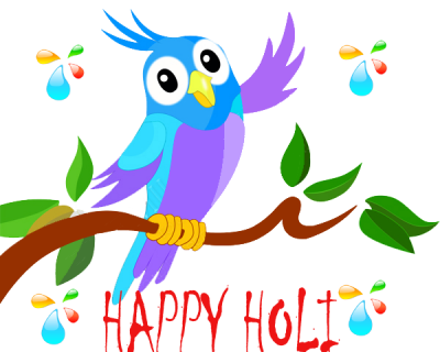 Happy Holi Animated Greeting Cards Png PNG Images