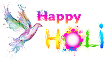 Messages For Brids Happy Holi Text Png PNG Images