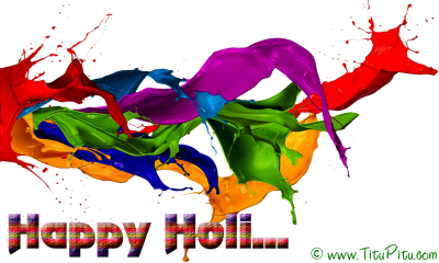 Paint Happy Holi Text Png PNG Images