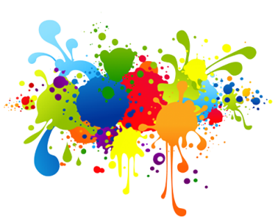 Paint Splash Happy Holi Text Png