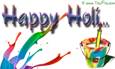 Paint, Tın, Brush Happy Holi Text Png