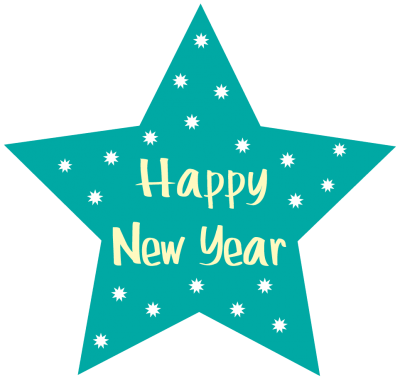 Blue Happy New Year Clip Art For New Year 2017 Png