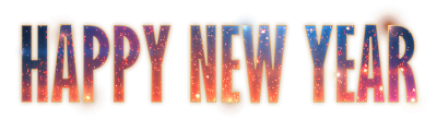 Happy New Year Fireworks Text Transparent Png
