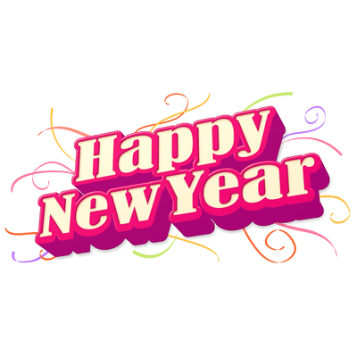 Happy New Year Purple Transparent Png