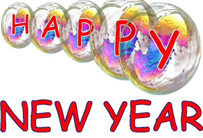 Happy New Year Transparent Bubbles Png