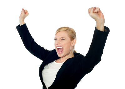 Blonde Happy Woman Black Jacket Person Free PNG PNG Images