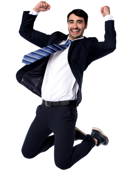 Very Happy Businessmen PNG Images