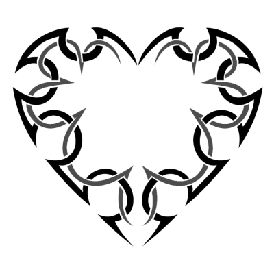 Picture Heart Tattoos PNG Images