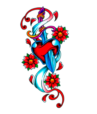 Transparent Heart Tattoos PNG Images