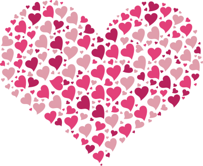 Heart Pattern Free Cut Out PNG Images