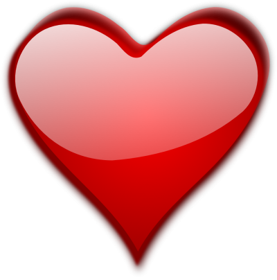 Transparent Heart Glossy PNG Images