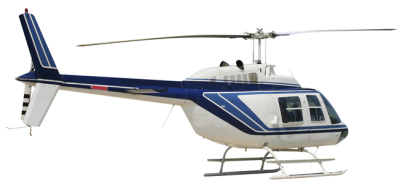 White Blue Helicopter Cut Out PNG Images