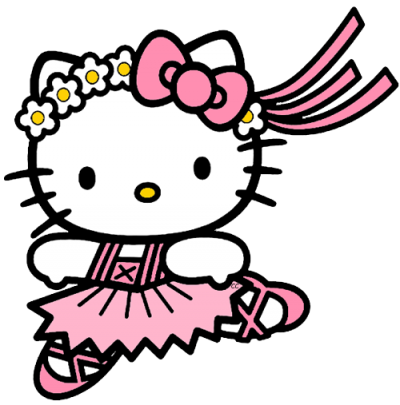 Ballet Dancer Hello Kitty Transparent Background Download PNG Images