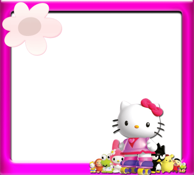 Floral Hello Kitty Frame Png Background Free PNG Images