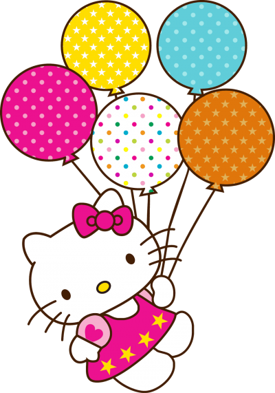 Holding Balloons Beautiful Hello Kitty Transparent Free PNG Images