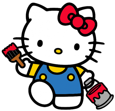 Paint Maker Hello Kitty Png Hd Free Clipart, Cartoon, Drawing PNG Images