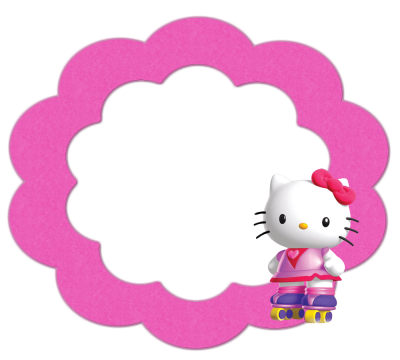Round Quality Hello Kitty Frame Free Download PNG Images