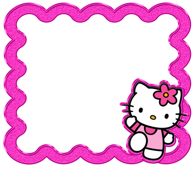 Shaped Hello Kitty Frame Clipart Transparent Background PNG Images