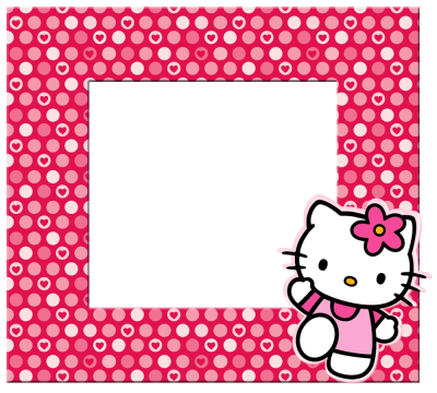 Square Frame With Pink Hello Kitty Pictures Hd Png PNG Images