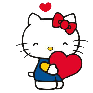With Heart in Hand Happy Hello Kitty Free Download PNG Images