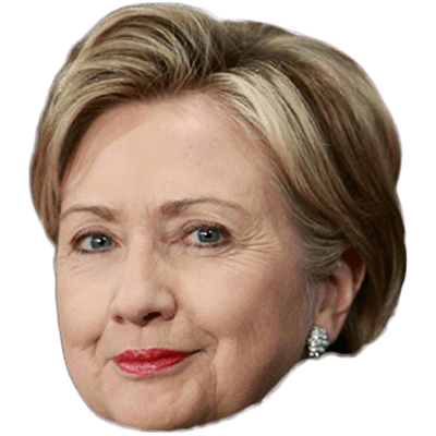Hillary Clinton Face Head Images PNG PNG Images