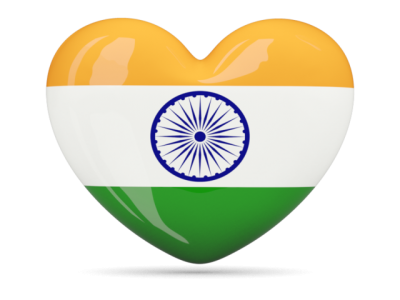 Heart Icon Illustration Of Flag Of India PNG Images