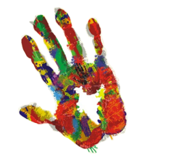 Handprint Colorful Holi Png